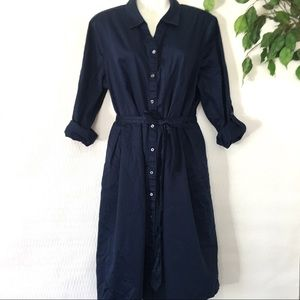 Charter Club Fit & Flare Blue Dress